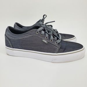 Vans Lace Up Skateboard Shoes Sneakers Sz 8